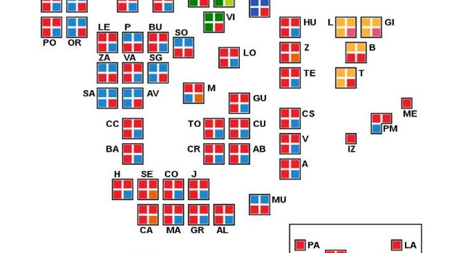 Resultados electorales en el Senado en abril de 2019. Fuente: Wikipedia.