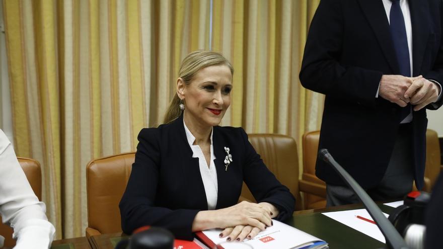 Cristina Cifuentes, durante su comparecencia en el Congreso.