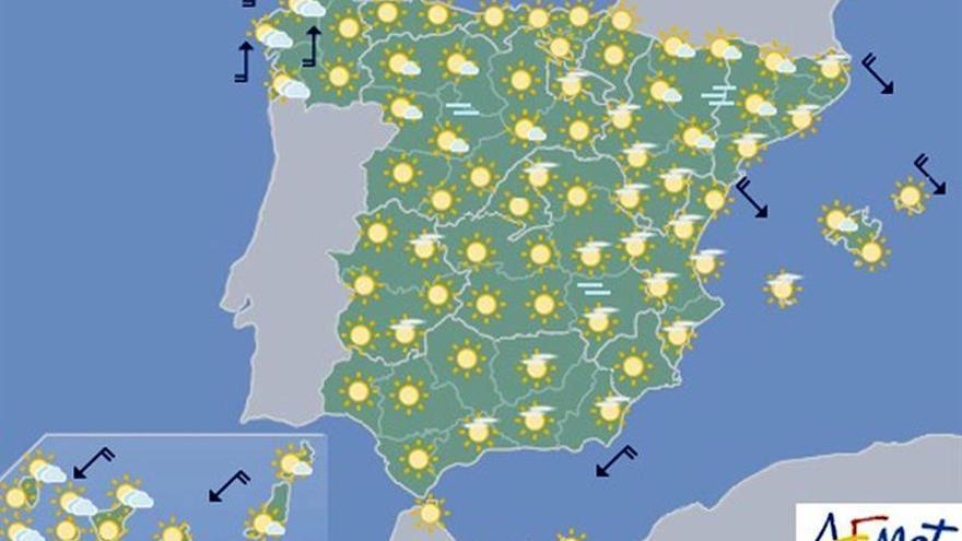 Hoy, ascenso de temperaturas en interior peninsular y Cantábrico oriental