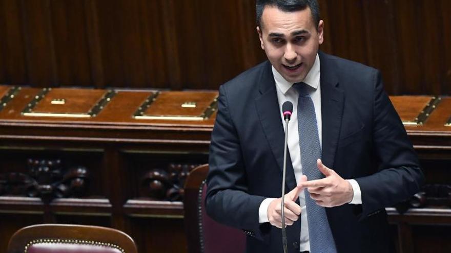 El líder del italiano Movimiento 5 Estrellas (M5S) y actual ministro de Exteriores, Luigi Di Maio, en una sesión de la Cámara italiana.