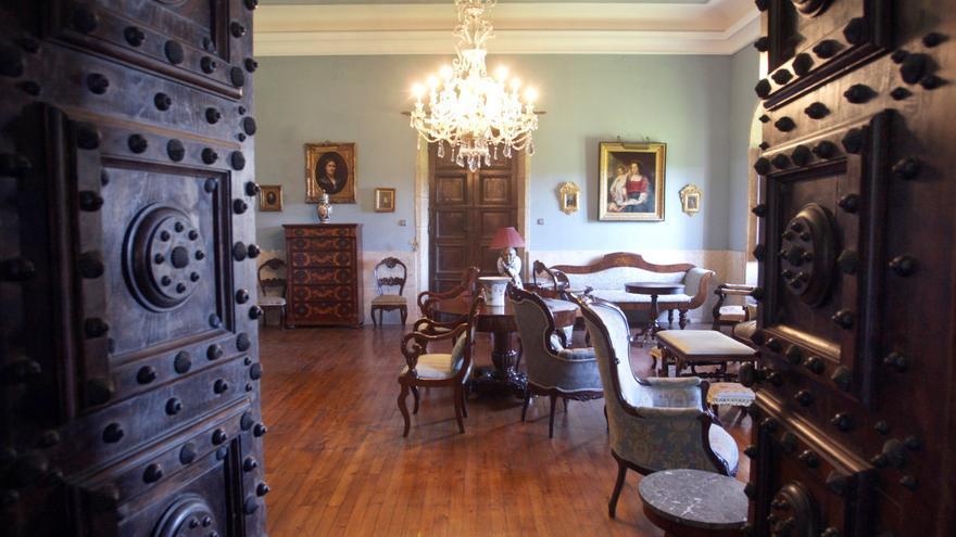 Interior de una de las estancias del Pazo de Meirás