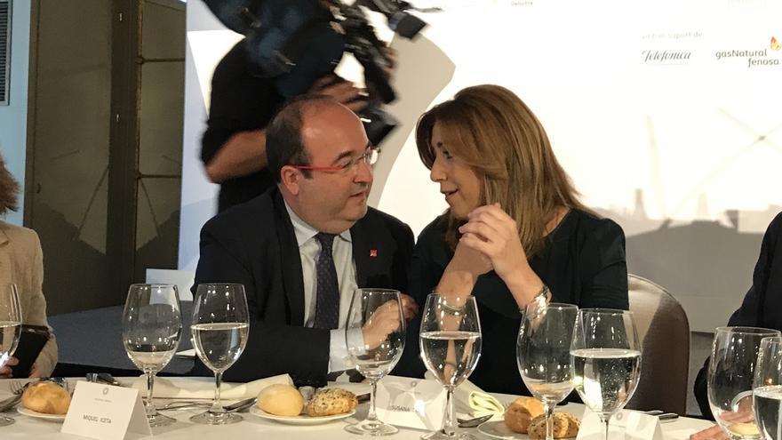 Susana Díaz irá el sábado 6 a la Fiera de Abril de Cataluña tras pasar el día con militantes del PSC