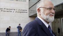 El expresidente de las Corts Valencianes, Juan Cotino, en la Ciudad de la Justicia de Valencia