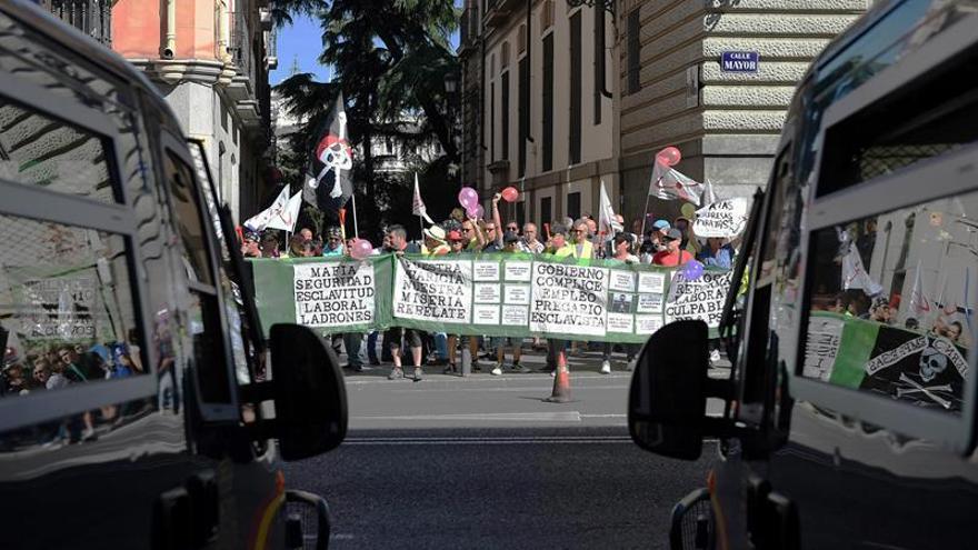 Seguimiento mayoritario en huelga de vigilantes de Marsegur, según los sindicatos