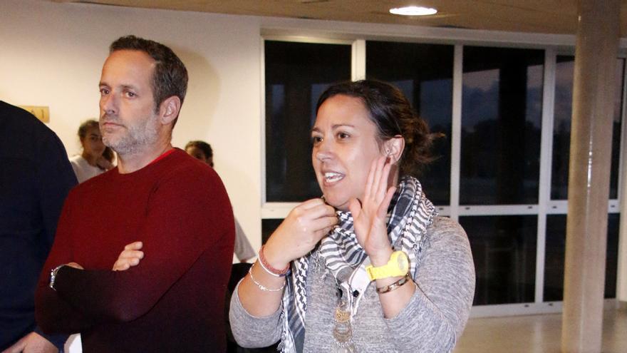 Idaira Afonso, concejala de Deportes del Ayuntamiento de La Laguna durante la reunión.