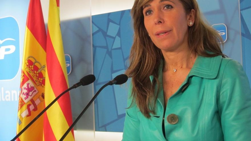 Alicia Sánchez-Camacho defiende a Alberto Fabra y cree que es el Gobierno catalán quien asusta a los empresarios