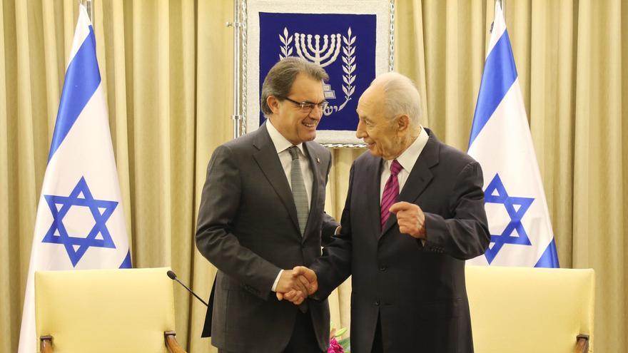 Artur Mas explica a Shimon Peres el proyecto que defiende para Cataluña