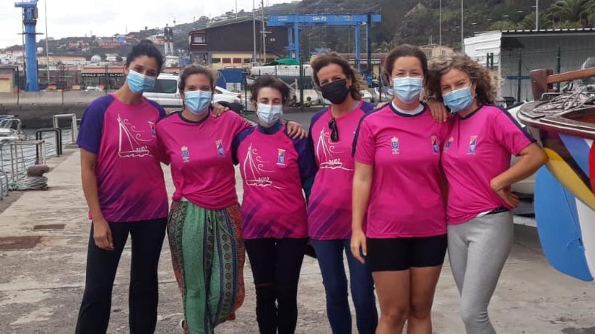 Mujeres regatistas de La Palma.