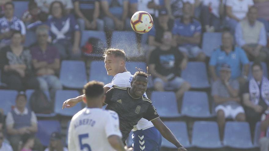 Jorge durante el CD Tenerife-Real Oviedo del pasado mes de mayo en el Heliodoro