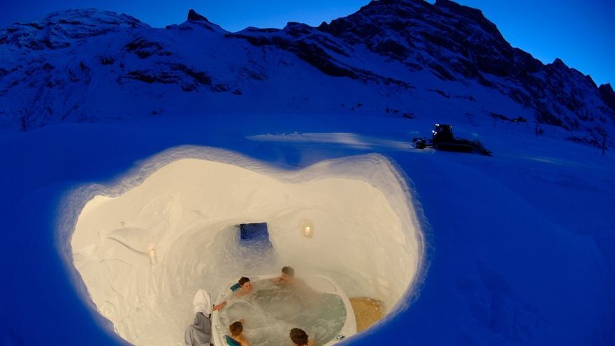 Iglu Dorf en Suiza