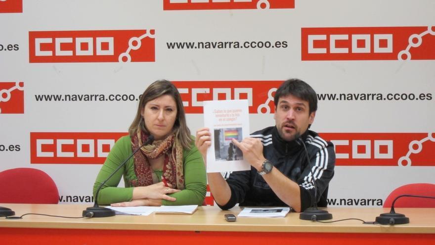 """CCOO critica la llegada de un texto """"homófobo y de tinte fascista"""" a centros educativos de Navarra"""