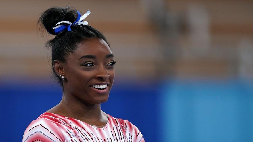 La gimnasta norteamericana Simone Biles este martes en Tokyo.