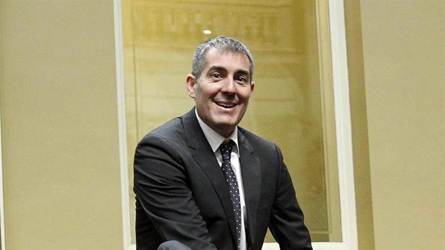 El presidente del Gobierno de Canarias, Fernando Clavijo