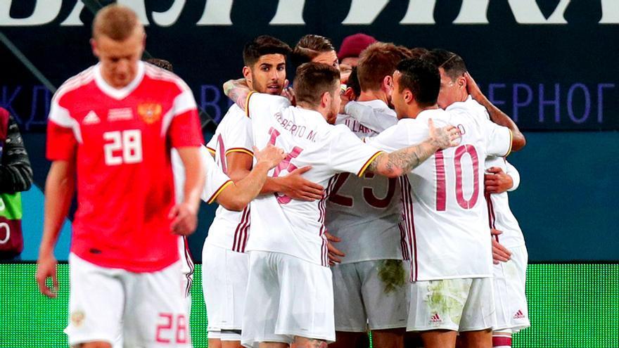 Rusia-España, emitido en Telecinco