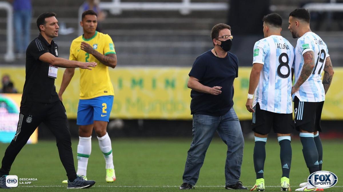 Autoridades sanitarias brasileñas interrumpieron el partido