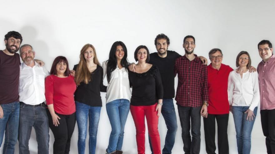 Miembros de la candidatura de Guanyar Alcoi en 2015