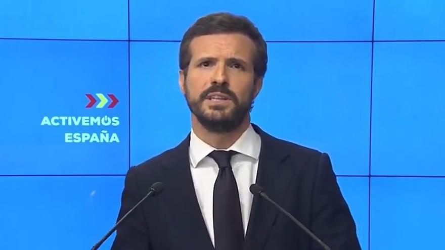 """Casado avisa de que el """"sectarismo"""" del Gobierno dificulta el apoyo del PP a las medidas sociales para la recuperación"""