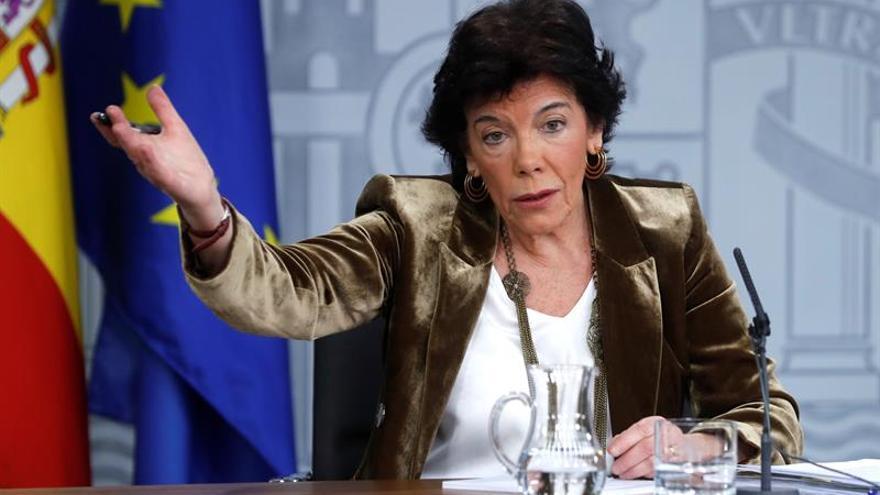 La ministra Portavoz en funciones, Isabel Celaá.