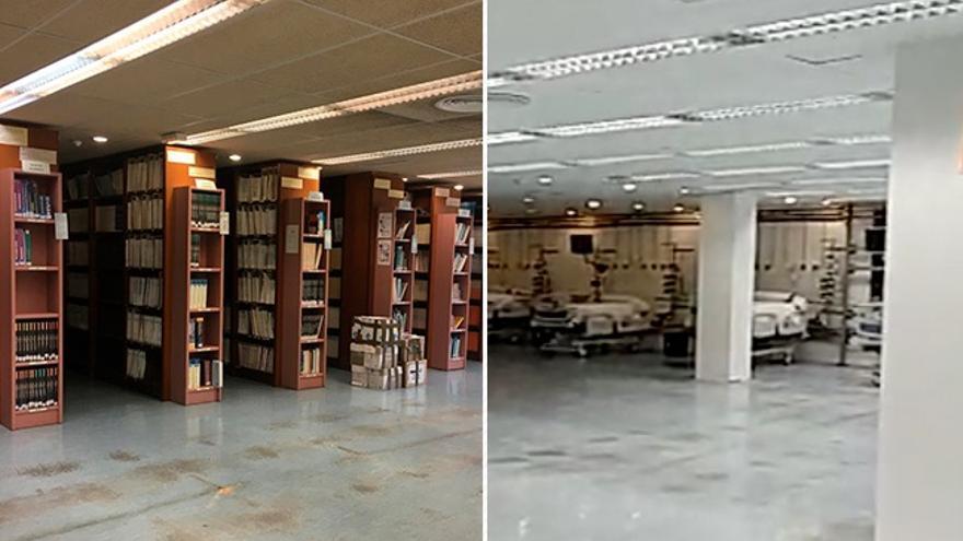 El antes y el después de la biblioteca de Can Ruti