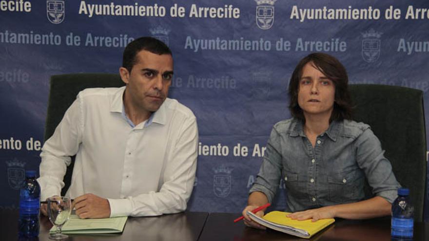 José Montelongo y su anunciada sustituta en la alcaldía, Eva de Anta / Foto: Felipe de la Cruz.