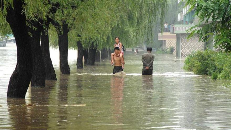 Corea del Norte moviliza a los ciudadanos para ayudar en las labores tras las inundaciones