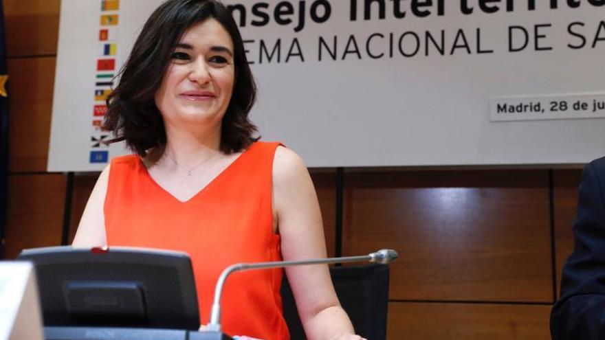 La ministra de Sanidad, Carmen Montón.