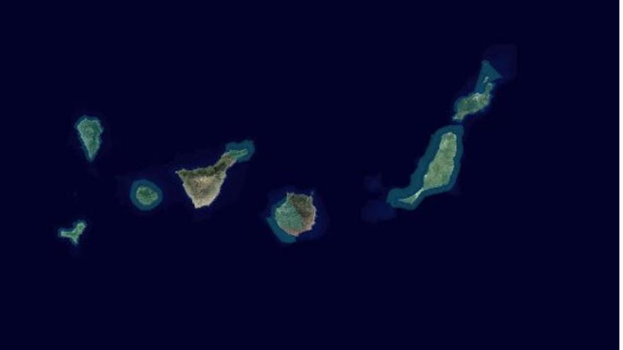 Mapa del Gobierno de Canarias de las Reservas de la Biosfera.