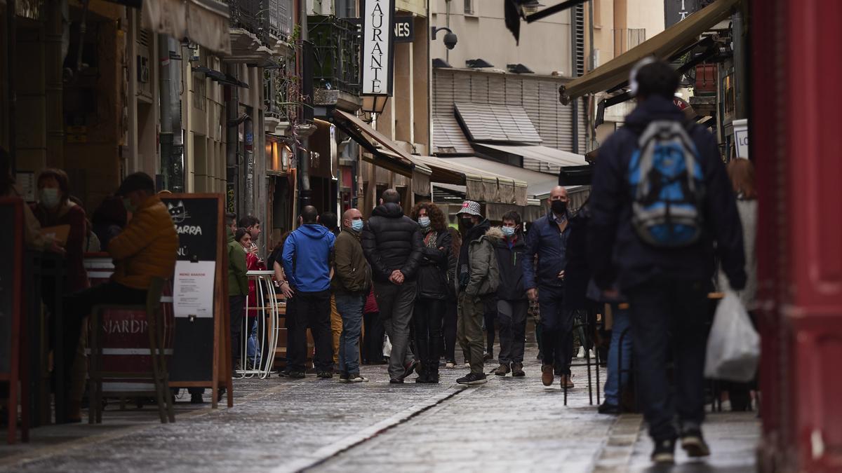 Locales de hostelería en el centro de Pamplona antes del anuncio de su cierre