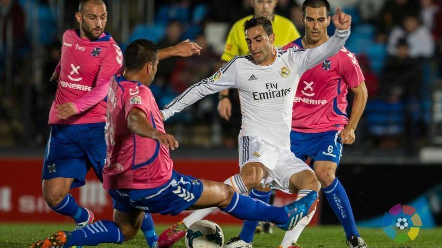 Imagen del encuentro entre el Real Madrid Castilla y el CD Tenerife