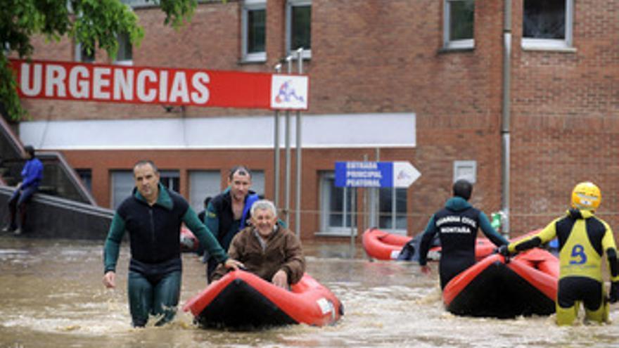 Inundaciones en Arriondas (Asturias)