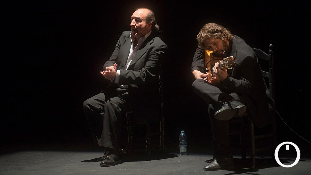 El Calli, en su última actuación en el Gran Teatro, junto a Luis Medina