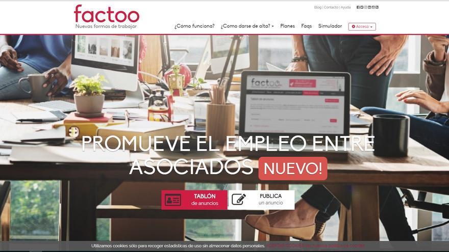 Pantallazo de Factoo.