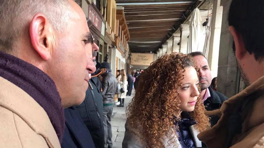 La secretaria de organización, Noemí Otero, y el secretario de Acción Institucional del partido, Alfonso Martín.