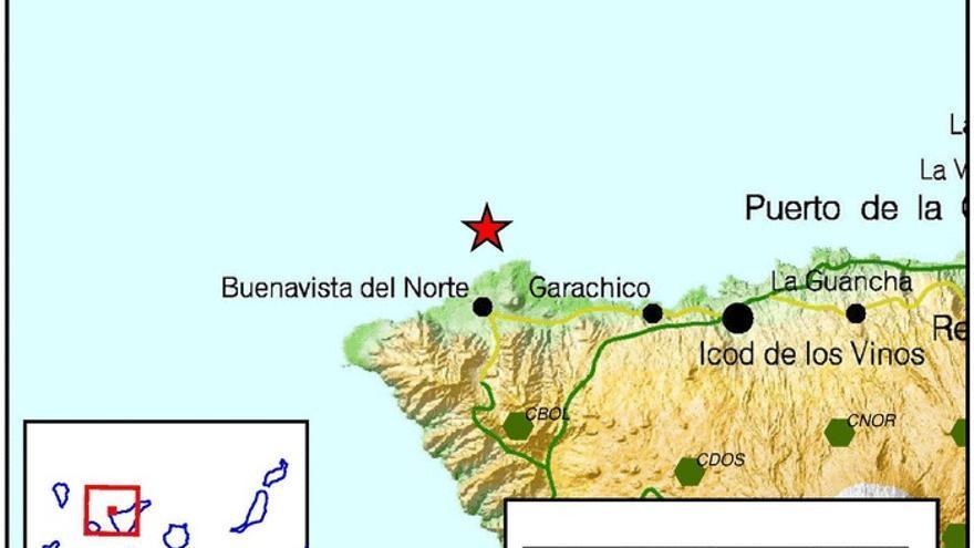 Terremoto de 4,1 grados junto a la costa de Buenavista del Norte
