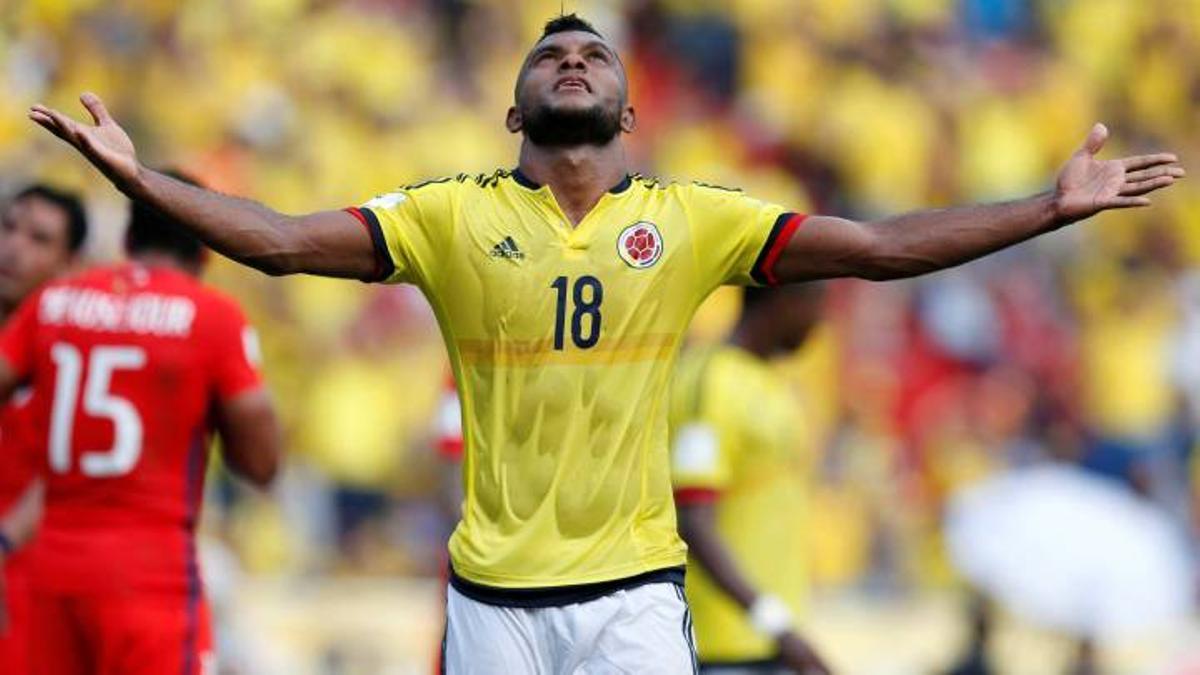 Borja metió dos goles y fue decisivo en la victoria colombiana.