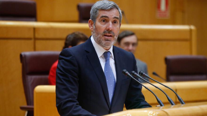 Fernando Clavijo en una de sus intervenciones en el Senado.