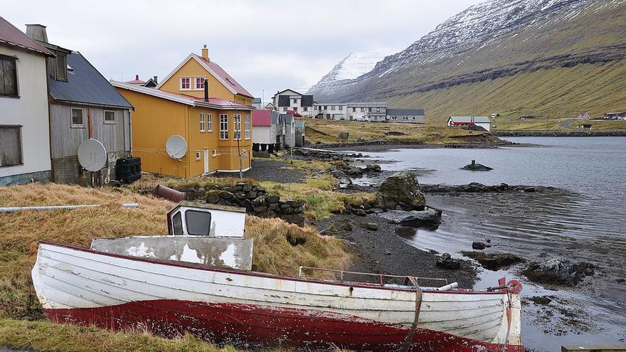 Pueblo de las islas Feroe.