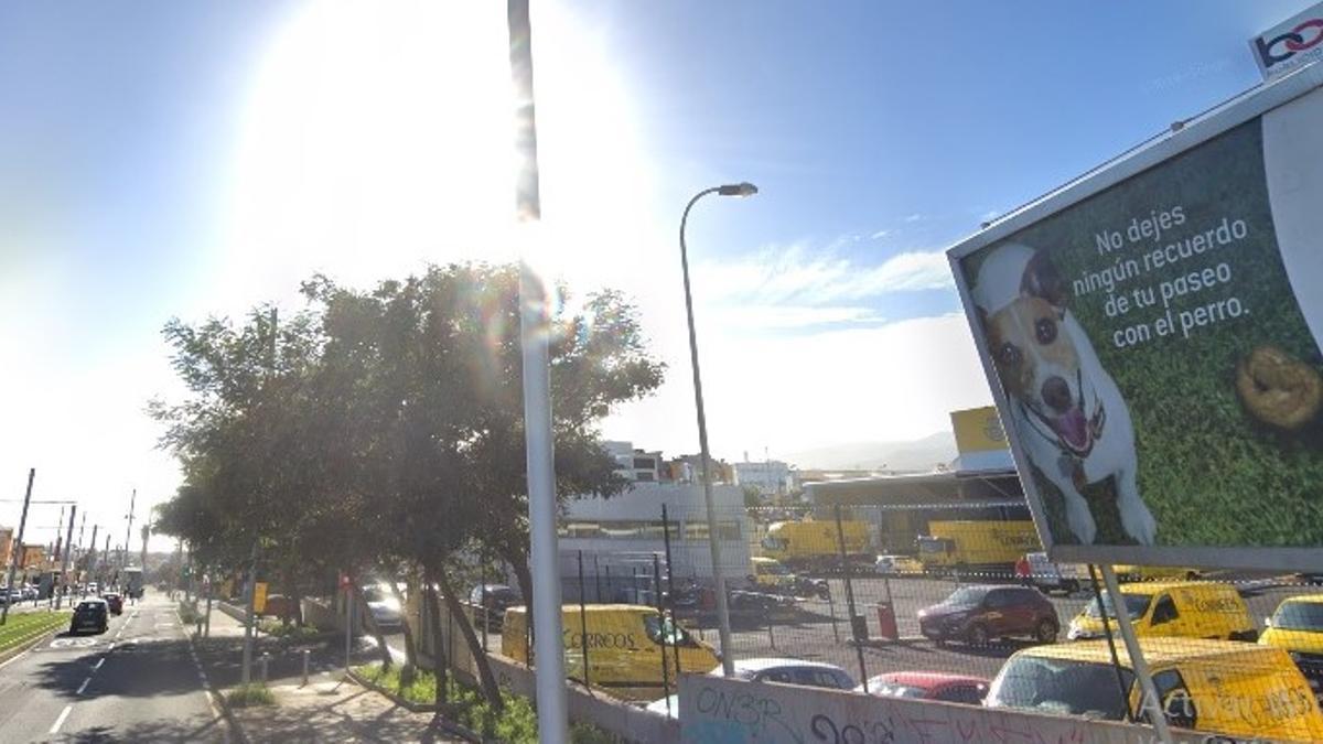Carretera general La Cuesta-Taco, en el municipio de La Laguna