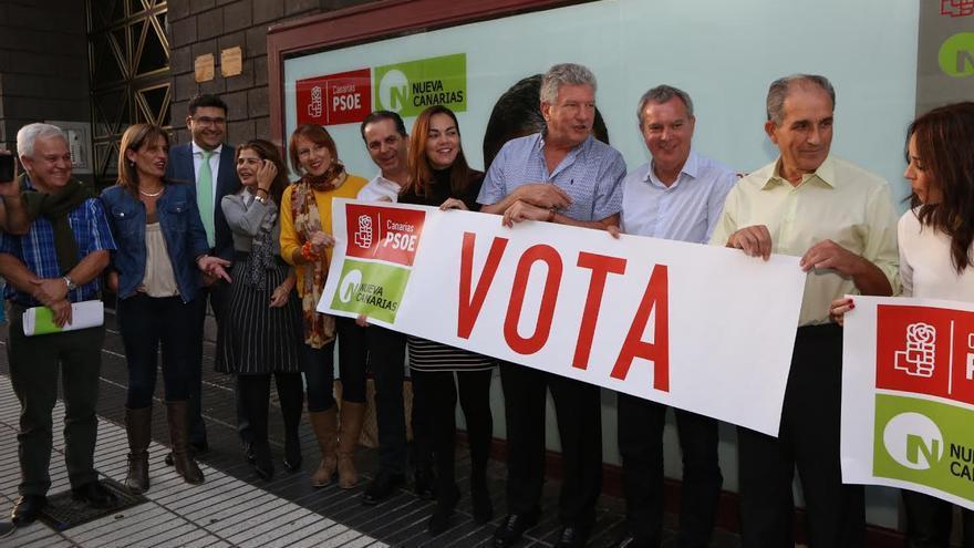 Acto de arranque de campaña de la coalición PSOE-NC.