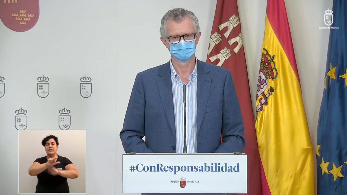 Juan José Pedreño, consejero de Salud murciano