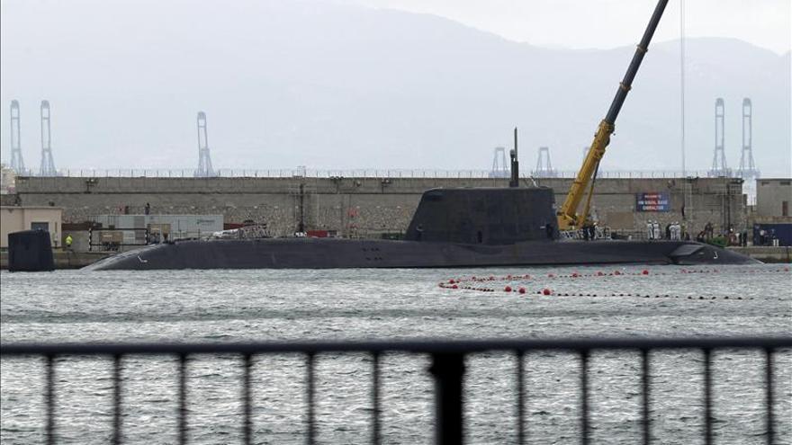 """El submarino nuclear británico """"Ambush"""" recala en Gibraltar"""