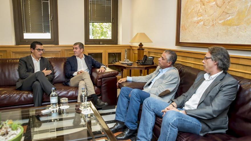 Pablo Rodríguez, Fernando Clavijo, Tomás Pérez y Juan Ramón Martín