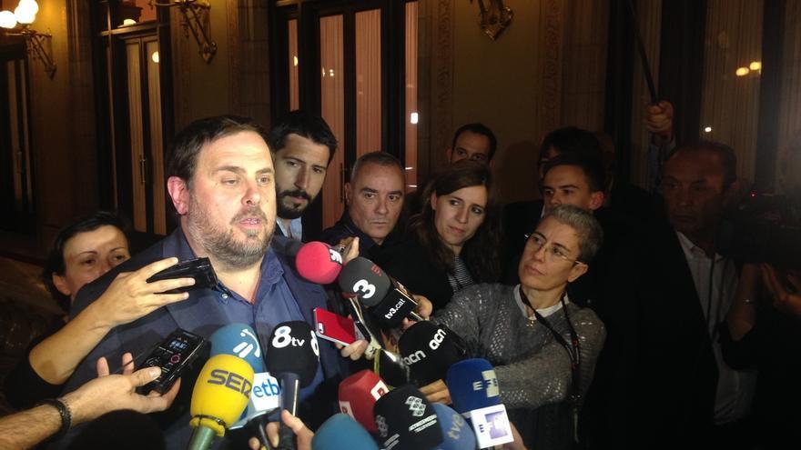 Mas, Junqueras, Romeva y Turull se reúnen en el Parlament tras fracasar la primera investidura