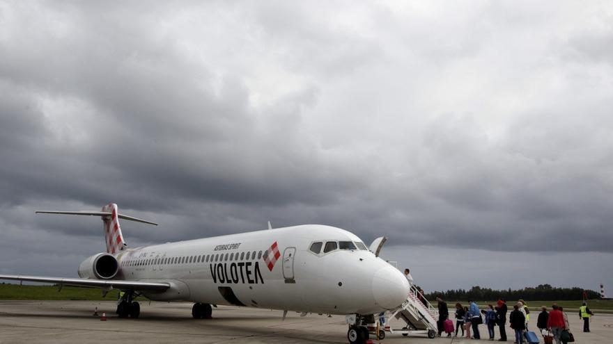 En la imagen, un avión de la compañía aérea Volotea.