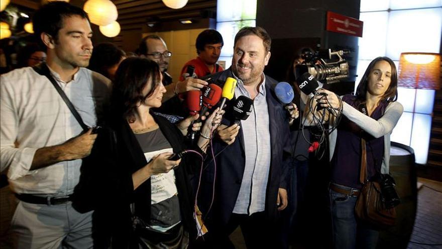 Junqueras pide mayoría parlamentaria para hacer una declaración independencia