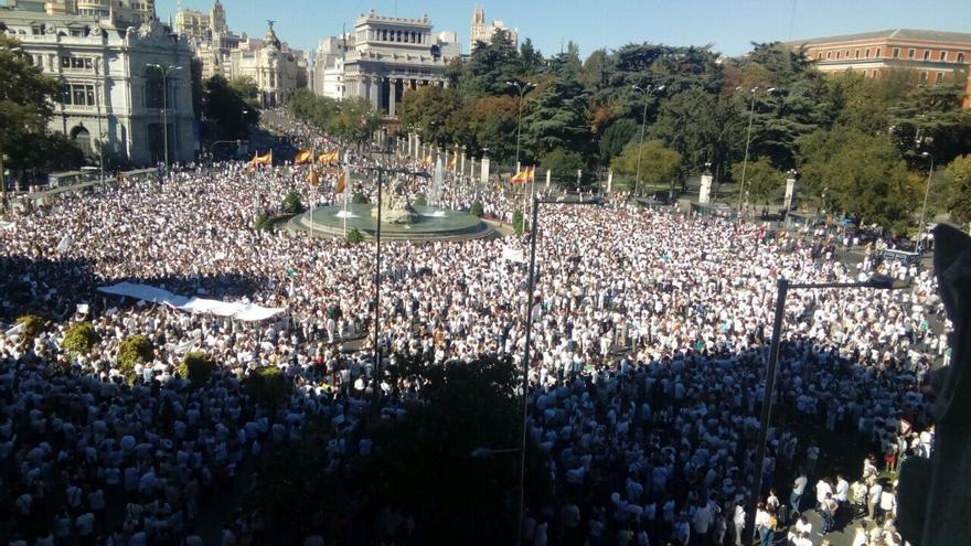 Manifestación por el diálogo en Madrid