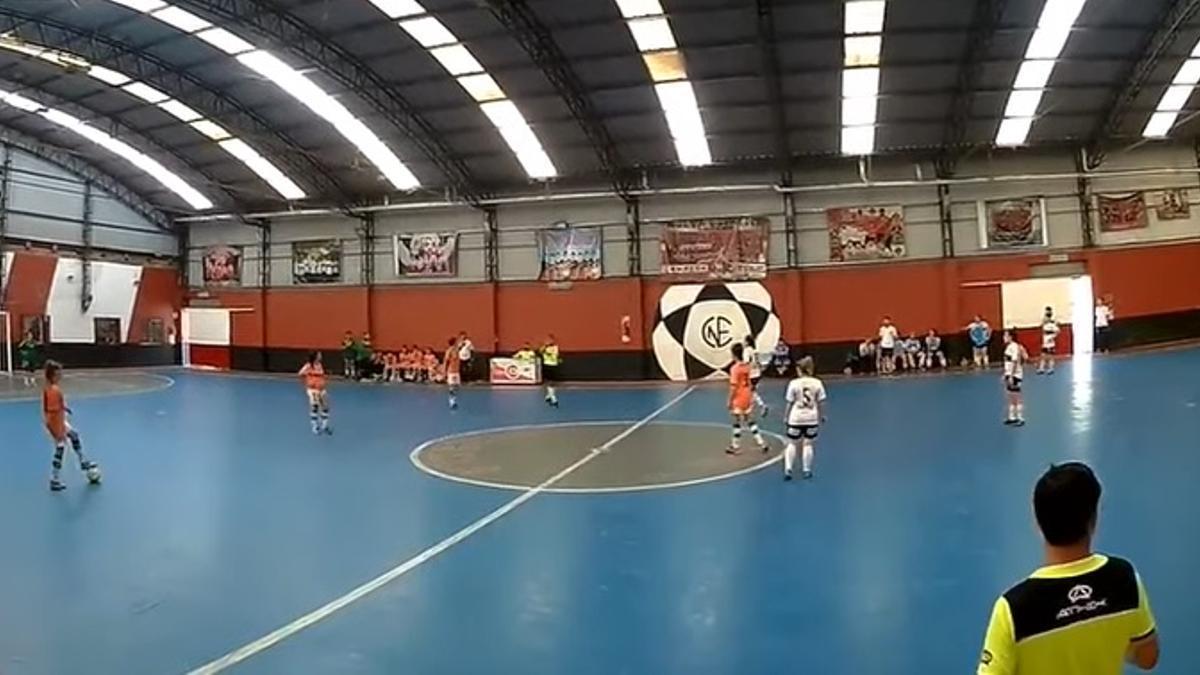 Escándalo en el Futsal femenino durante el partido Banfield-Gimnasia LP.