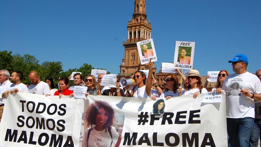 Manifestación por la liberación de Maloma
