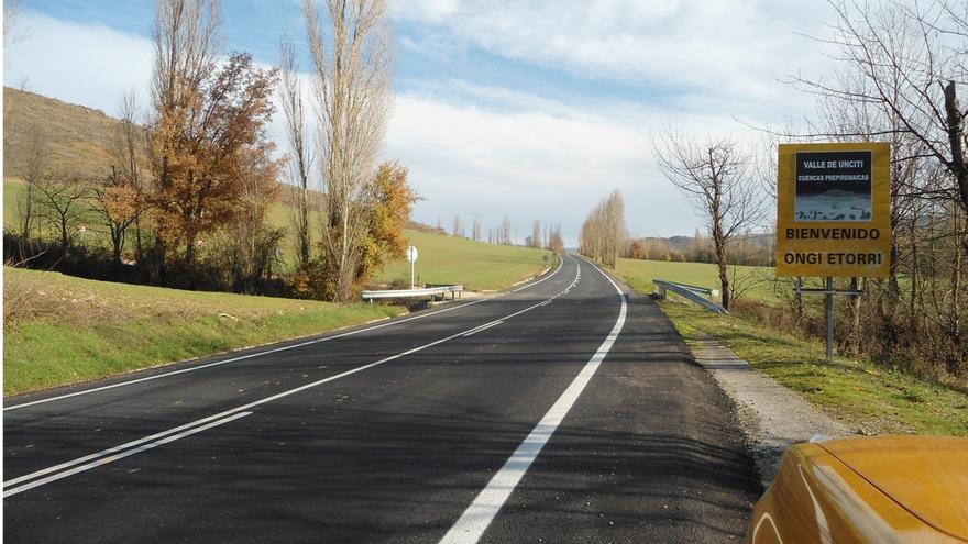 Las obras de refuerzo de la carretera Campanas - Urroz Villa concluyen con un presupuesto de 800.000 euros