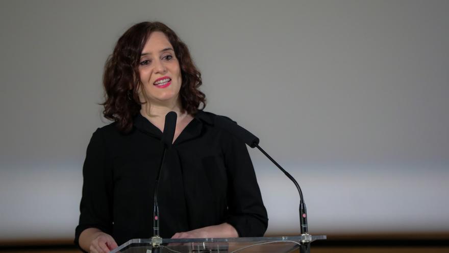 La presidenta de la Comunidad de Madrid, Isabel Díaz Ayuso, en la presentación de un documental en Madrid